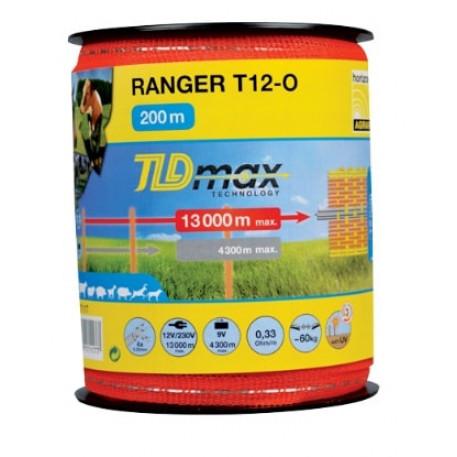 Banda 200m RANGER T12-O latime 12mm cu 4 fire de 0.22mm, forta rupere 60kg, rezistenta electrica 0.33 ohm/m