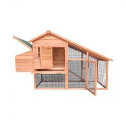 Cotet din lemn pentru pasari de curte, cotet gaini 1900x650x1130mm