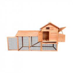 Cotet din lemn pentru pasari de curte, cotet gaini 2040x760x1160mm
