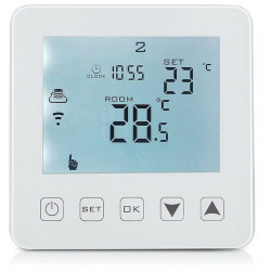 Termostat digital programabil de pardoseala HY08WE-4 white touch screen