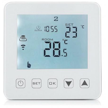 Termostat digital programabil de pardoseala HY08WE-4-WIFI white touch screen