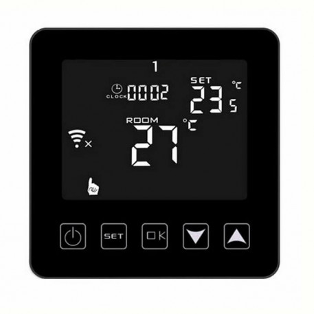 Termostat digital programabil de pardoseala HY08WE-2 black touch screen