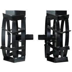 Set roti metalice 350 mm cu manicot 23 mm