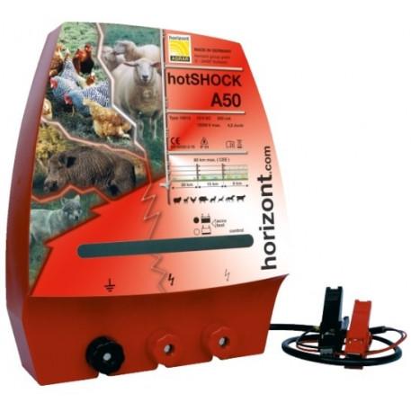 Generator de impulsuri 3J la 12V pentru gard electric hotSHOCK A50 Horizont
