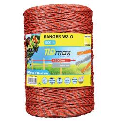 Fir 1000m RANGER W3-0 cu 3 fire de 0.25mm, forta rupere 160kg, rezistenta electrica 0.35 ohm/m