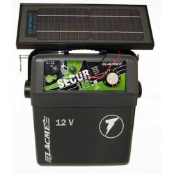 Generator de impulsuri 1.3J pentru gard electric Lacme Secur 130 + panou solar 6 W