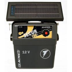 Generator de impulsuri 1J pentru gard electric Lacme Secur 100 + panou solar 6 W