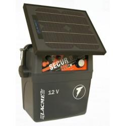 Generator de impulsuri 2J pentru gard electric Lacme Secur 200 + panou solar 10 W