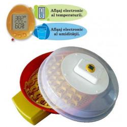 Puisor X2 Incubator cu dispozitiv intoarcere AUTOMAT 51 oua gaina - 102 oua prepelita