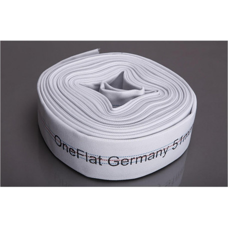 Rola 20 m furtun refulare OneFlat 50 mm acoperit cu tesatura textila 10bar