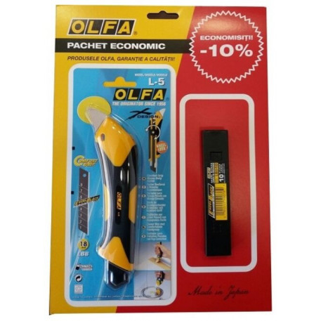 Set L-5/LBB-10 Olfa Cutter cu lama de 18 mm