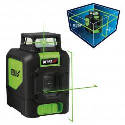 Nivela laser verde cu plan 360 grade si linii in cruce MC0905 Dedra
