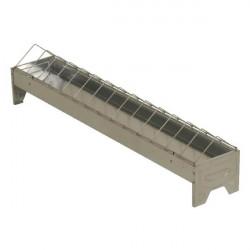 Recipient zincat pentru hranire pasari 75x10 cm