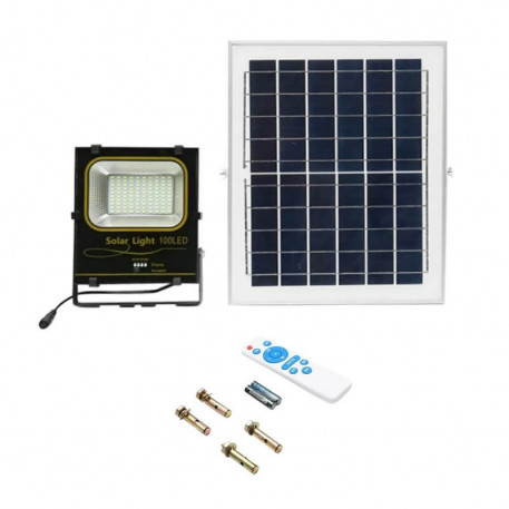 Lampa LED 50W cu panou solar si nivel de protectie IP66 Breckner