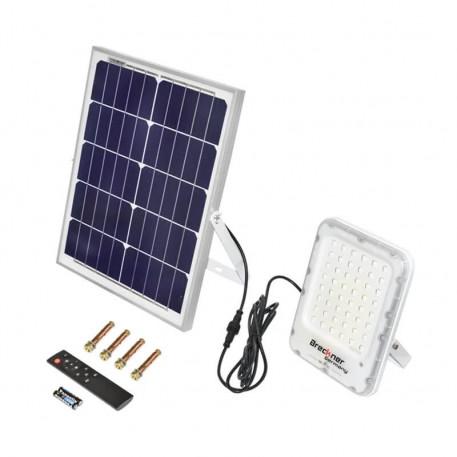 Lampa LED cu panou solar 25W cu senzor de miscare si telecomanda IP66 Breckner