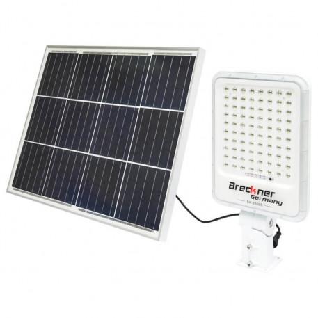 Lampa LED cu panou solar 50W si proiector 300W cu suport articulat Breckner