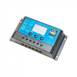 Controler incarcare PWM pentru panou solar 10A 12V/24V 2x port USB Breckner