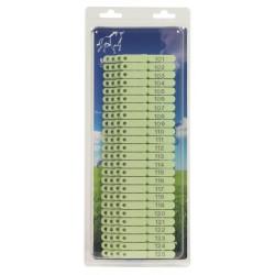 100 Crotalii verzi pentru oi, capre si caini numerotare 101-200