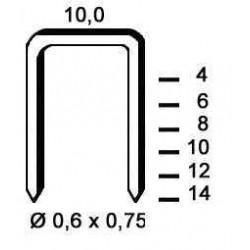 Agrafe galvanizate tip VF06 de 10 mm 10 000 buc Alsafix