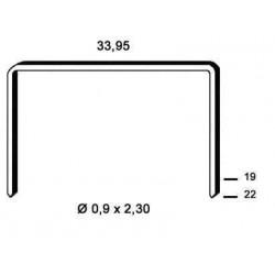 Agrafe aramite tip BM de 19 mm 20 000 buc Alsafix