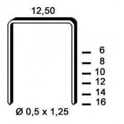 Agrafe galvanizate tip D de 6 mm 5 000 buc Alsafix