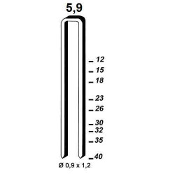 Agrafe otel tip ES de 15mm 6000buc Alsafix