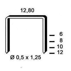 Agrafe galvanizate tip P de 12 mm 6 000buc Alsafix