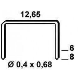 Agrafe galvanizate , tip VS de 8 mm 3 800  buc Alsafix