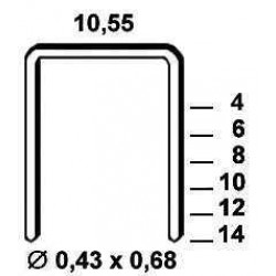 Agrafe galvanizate , tip VZ de 10 mm 4 000  buc Alsafix