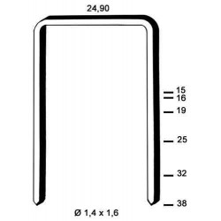 Agrafe galvanizate , tip WC de 38 mm 4 900 buc Alsafix