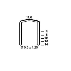 Agrafe otel tip FB de 6mm 5000buc Alsafix