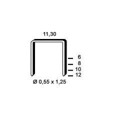Agrafe otel tip PB de 12mm 2100buc Alsafix