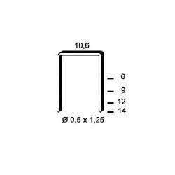 Agrafe otel tip PF de 14mm 3000buc Alsafix