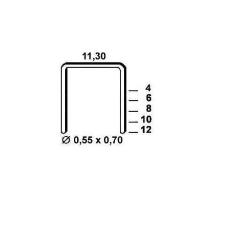Agrafe otel tip VX de 6mm 6000buc Alsafix