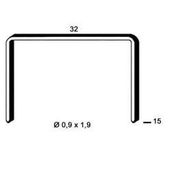 Agrafe aramite tip R de 15mm 20000buc Alsafix