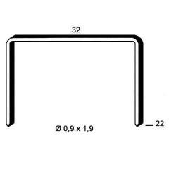 Agrafe aramite tip R de 22mm 15000buc Alsafix