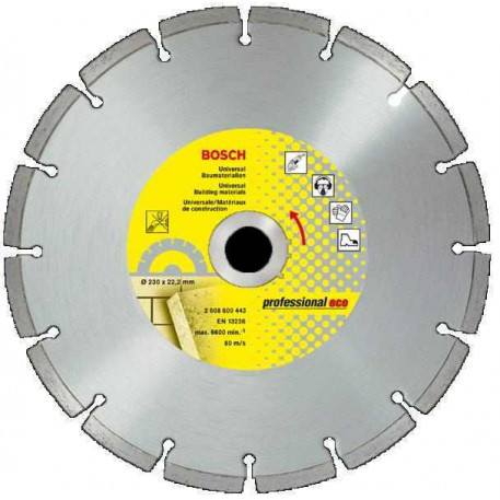 Disc diamantat ECO UPE 230x22.23mm Bosch 2608602195