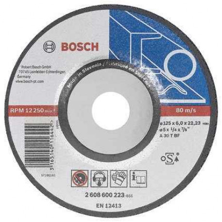 Disc de slefuire metal 180x6 mm Bosch 2608600315