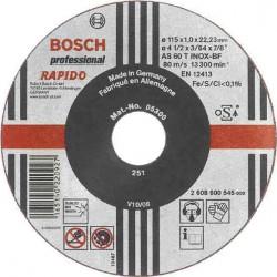 Disc taiere inox si metal 115x1 mm BOSCH 2608600545