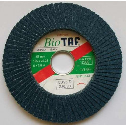 Disc lamelar 125x22,2 mm Gr40 pentru inox TAF-Italia