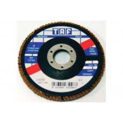 Disc lamelar LVZ38 115x22,2 mm Gr120 pentru inox TAF-Italia
