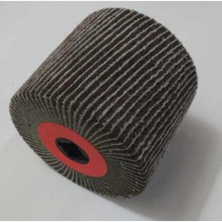 Tambur de satinare combinat cu lamele abrazive 115x100x19 mm granulatie 180-280