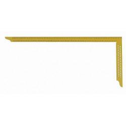 Echer dulgherie galben 700x300 mm cu perforatii si scala tip A Art. Y072 Hedu