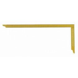 Echer dulgherie galben 800x320 mm cu perforatii si scala tip B Art. Y084 Hedu