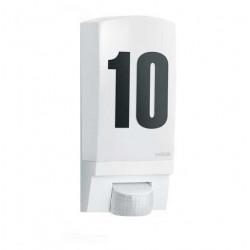 Lampa de exterior cu senzor de miscare-Numar de casa iluminat-Aplica de perete L1 (alb) Steinel
