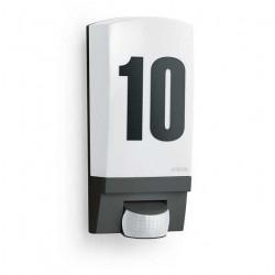 Lampa de exterior cu senzor de miscare-Numar de casa iluminat- Aplica perete L1 (negru) Steinel