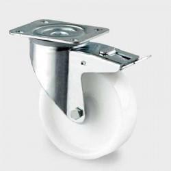 Roata pivotanta din poliamida cu frana 160 mm - 350 kg TENTE 3477UOO160P63