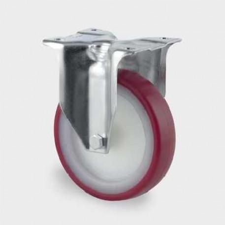 Roata fixa din poliamida 160 mm - 350 kg TENTE 3478UAR160P63 red
