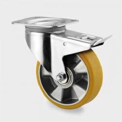 Roata pivotanta cu frana din aluminiu 160 mm - 350 kg TENTE 3477ITP160P63