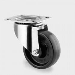 Roata termorezistenta pivotanta 80 mm cu furca inox - 100 kg TENTE 8470BOG080P62